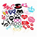 Photo Booth Props Card Paper (31 Pieces) Funny Mask Photo Booth Props Wedding Decorations