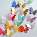 Butterfly Design Colorful Pearl Paper Decorative Accessories (set of 12 packs)