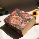 Forever Love Cuboid Card Paper Favor Boxes With Flowers (Set of 20)