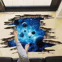 3D Space Planet Living Room Decoration Wall Stickers (Sold in a single piece)