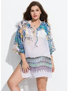 Beautiful Colorful Polyester Cover-ups Swimsuit