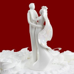 """Sweet Hug"" Ceramic Wedding Cake Topper"