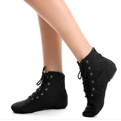 Women's Canvas Flats Boots Jazz Dance Shoes