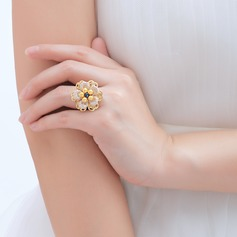 Exquisite Copper/Lace With Pearl Ladies' Rings