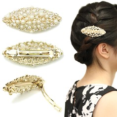 Ladies Exquisite Alloy/Imitation Pearls Combs & Barrettes