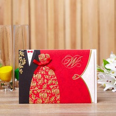 Personalized Bride And Groom Hard Card Paper Invitation Cards