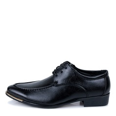 Men's Leatherette U-Tip Casual Men's Oxfords