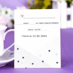"Personalized ""Musical Notes"" Pearl Paper Response Cards"