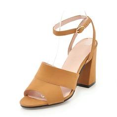 De mujer Ante Tacón ancho Sandalias Salón Encaje Solo correa con Otros zapatos