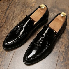Mannen Patent Leather Tassel Loafer Casual Loafers voor heren
