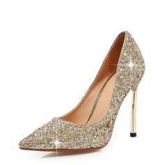 Women's Sparkling Glitter Stiletto Heel Pumps Closed Toe With Others shoes (085146853)