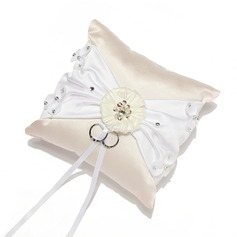 Grace Ring Pillow in Satin With Sash