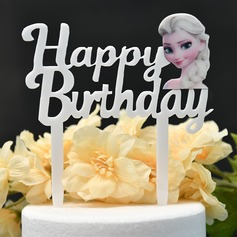It's a Girl/Happy Birthday Acrylic Cake Topper (Sold in a single piece)