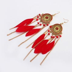 Beautiful Alloy With Feather Ladies' Fashion Earrings