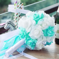 Eye-catching PE/Rhinestone Bridal Bouquets (123069706)