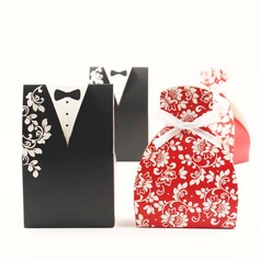 Tuxedo & Gown Favor Boxes With Bow