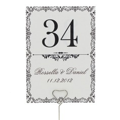 Personalized Artistic Pearl Paper Table Number Cards