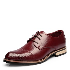 Men's Real Leather Cap Toes Lace-up Casual Men's Oxfords