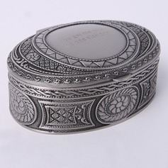 Personalized Oval Zinc Alloy Jewelry Holders