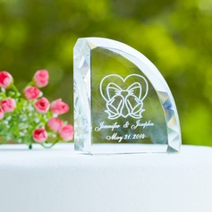 Personalized Bells Crystal Cake Topper