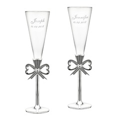 Personalized Glass/Aluminum Toasting Flutes