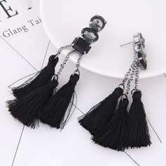 Fashionable Alloy Resin Braided Rope With Tassels Women's Fashion Earrings (Sold in a single piece)