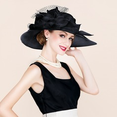 Ladies' Beautiful/Special/Elegant Papyrus/Tulle Floppy Hat