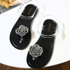 Women's Flat Heel Sandals Flip-Flops Slippers With Flower shoes