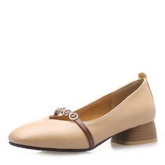 Women's Leatherette Low Heel Flats With Chain shoes