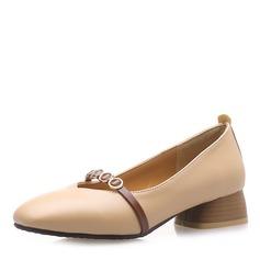 Donna Similpelle Tacco basso Ballerine con Catenina scarpe