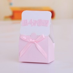 """""""Baby"""" Cuboid Favor Boxes With Ribbons"""