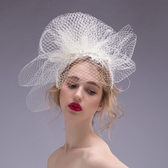 Glamourous Imitation Pearls/Net Yarn Fascinators/Headbands