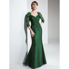 Trumpet/Mermaid Sweetheart Floor-Length Taffeta Mother of the Bride Dress With Ruffle Lace