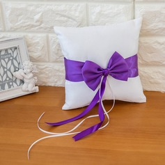 Lovely Ring Pillow in Satin With Ribbons/Sash/Bow
