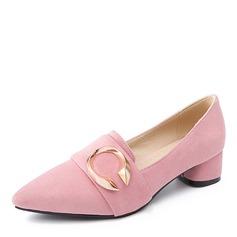 Donna Camoscio Tacco basso Ballerine con Fibbia scarpe