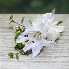 Charming Free-Form Artificial Silk Boutonniere/Men's Accessories