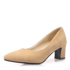 Donna Camoscio Tacco spesso Stiletto con Altrui scarpe