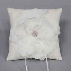 Lovely Ring Pillow in Satin/Chiffon With Rhinestones