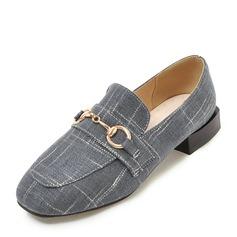 Donna Tessuto Senza tacco Ballerine Punta chiusa con Catenina scarpe