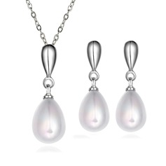 Simple Silver Plated Ladies' Jewelry Sets