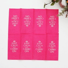 """Keep Calm and Carry On"" Dinner Napkins"