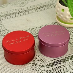 Personalized Cylindrical Metal Favor Tin