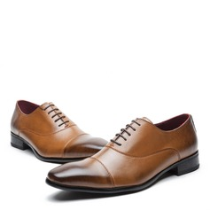Men's Real Leather Cap Toes Lace-up Dress Shoes Men's Oxfords (259171633)