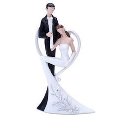 "Figurine ""Love Swept"" Resin Wedding Cake Topper"