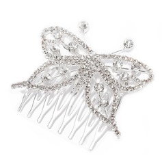 Simple Butterfly Alloy/Czech Stones Combs & Barrettes