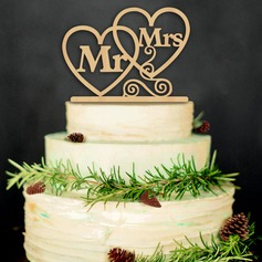 Letter Wood Cake Topper (Set of 2)