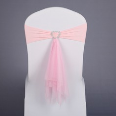 Simple Colorful Polyester Chair Ribbon Sash