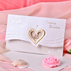 Heart Style Tri-Fold Invitation Cards  (114033291)