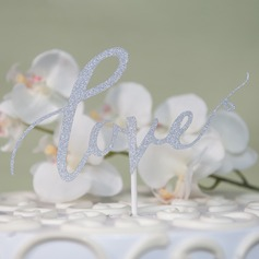 Love Design/Love Is Sweet card paper Cake Topper (Sold in a single piece)