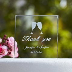 Personalized Simple Design Crystal Cake Topper